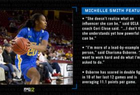 Michelle Smith WBB Feature: UCLA's Charisma Osborne provides defense and dancing skills