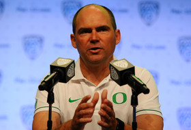 2016 Pac-12 Football Media Day: Oregon's Mark Helfrich on Devon Allen: 'The guy's never lost a big race'