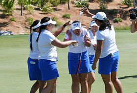 UCLA douses individual champion Lilia Vu after she helped the Bruins earn their 1st Pac-12 title in 11 years.