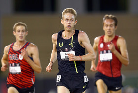 Oregon alum Galen Rupp runs to victory in the Men's 10000 Meter Run on day 2 of the USATF Outdoor Championships at Hornet Stadium on June 26, 2014 in Sacramento, California.
