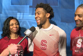 Stanford's Chasson Randle and parents celebrate Scholar-Athlete of the Year award