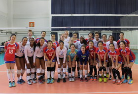 Jiangsu Overpowers Pac-12 Volleyball in Nanjing