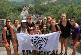 The Pac-12 Volleyball Team Conquers the Great Wall and Kicks Off the Beijing Tournament