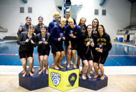 California leads after day one of the Pac-12 Women's Swimming and Diving & Men's Diving Championships