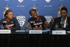 Wildcats show love to out-going Arizona head coach Niya Butts at Pac-12 Women's Basketball Tournament