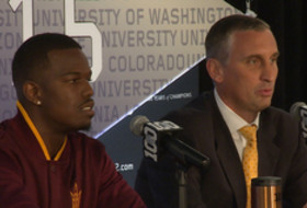2015 Pac-12 Men's Basketball Media Day: Arizona State's Bobby Hurley and Gerry Blakes