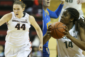 Ruth Hamblin (OSU), Jillian Alleyne (Oregon)