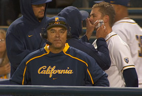 Cal baseball player gets close shave while head coach David Esquer gets interviewed