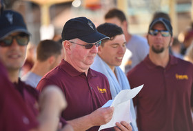 2017 Pac-12 Swimming (W) & Diving (M/W) Championships: Arizona State's Bob Bowman enjoying rebuilding Sun Devils program