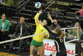 <p>Oregon volleyball Liz Brenner</p>