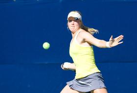 <p>California women's tennis playerAnnie Goransson</p>