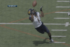 Video: Cal's Bryce Treggs makes a nice grab, as seen through new technology