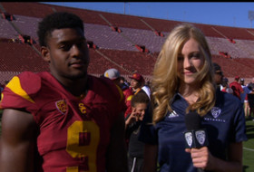 USC's Juju Smith-Schuster on spring game: 'It's great to be out here'