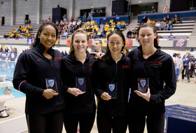 Highlight: Stanford women's swimming sets a new Pac-12 and American record in 200 medley relay