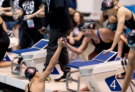 2017 Pac-12 Swimming (W) & Diving (M/W) Championships: Stanford sets new NCAA and American record in the 800 freestyle relay