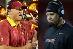 Pac-12 football coaches teleconference: USC's Clay Helton, Stanford's David Shaw prep for championship