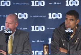 2015 Pac-12 Men's Basketball Media Day: Colorado's Tad Boyle and Josh Scott