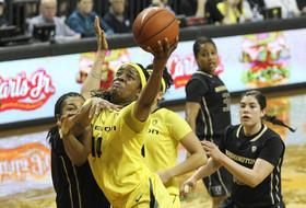 Video: Oregon's Jillian Alleyne nets a new season high