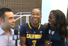 2015 Pac-12 Women's Basketball Media Day: Cal's Lindsay Gottlieb and Mikayla Cowling talk food and take selfies