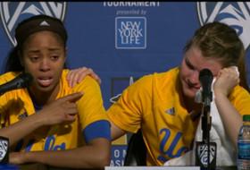 2017 Pac-12 Women's Basketball Tournament: UCLA's Jordin Canada tears up praising graduating teammate Kari Korver