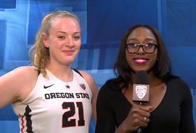 Marie Gülich's double-double helps Oregon State women's basketball reach Pac-12 Tournament Finals