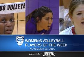 Colorado's Austin, Washington's Strickland, WSU's Woodford earn weekly Pac-12 women's volleyball awards