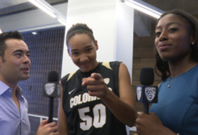 2015 Pac-12 Women's Basketball Media Day: Colorado's Jamee Swan and Linda Lappe answer the tough questions