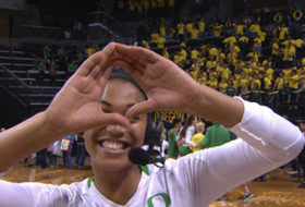 Oregon's Ronika Stone on team dynamic: 'I like to have fun on the court'