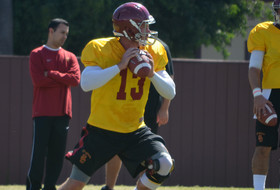 No hype, all work at USC training camp