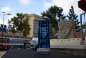 2016 Pac-12 Beach Volleyball Championship trophy