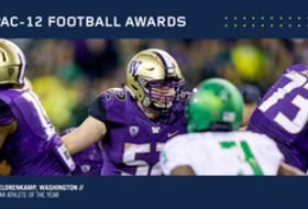 Washington's Eldrenkamp Named Football Scholar-Athlete of the Year