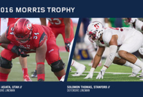Asiata and Thomas Named Morris Trophy Winners