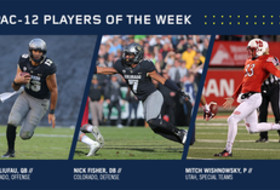 Liufau, Fisher, Wishnowsky earn weekly Conference honors