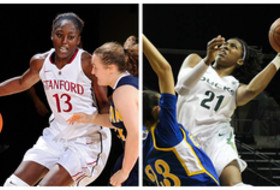 <p>Pac-12 Women's Basketball Players of the Week for Nov. 11, 2013 - Stanford's Chiney Ogwumike, Stanford, and Chrishae Rowe, Oregon</p>