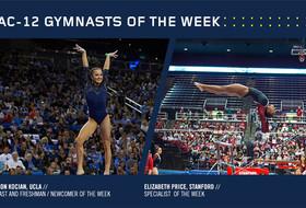 Kocian, Price claim Pac-12 gymnastics weekly honors