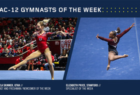 Skinner, Price collect Pac-12 gymnastics weekly honors