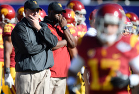 Pac-12 football coaches teleconference: USC interim Clay Helton assumes leadership role