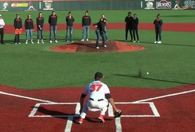 'A' for effort: Oregon State's Ali Gibson throws forgettable first pitch