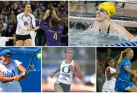 Pac-12's five Honda Award winners are finalists for the Honda Cup - Washington's Krista Vansant, California's Missy Franklin, UCLA's Robin Anderson, Oregon's Jenna Prandini and UCLA's Sam Mewis.