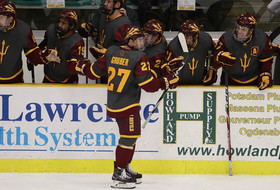 #13 Hockey Earns Redemption in Overtime Upset of #8 Clarkson