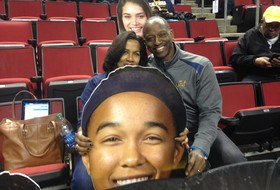2016 Pac-12 Women's Tournament: Mikayla Cowling's parents, Fatheads cheer on Cal's 1st-round hero