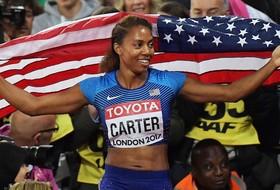 Roundup: Kori Carter takes home 400-meter hurdles world title in London