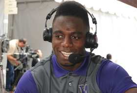 2015 Pac-12 Football Media Days: RB Deontae Cooper suggests Deontae Cooper starts at QB for UW