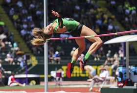 Oregon track & field in first place at NCAA championships