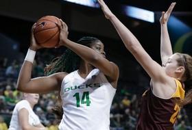 Highlight: Oregon women's basketball's Jillian Alleyne breaks Pac-12 double-double record