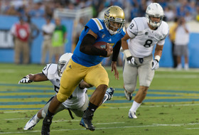 """<p>The Bruins got their offense going early and often as <a href=""""http://pac-12.com/videos/highlights-ucla-football-rolls-past-nevada"""">they took down the Wolf Pack</a> in Pasadena. Quarterback <a href=""""http://pac-12.com/videos/video-recap-ucla-football-takes-nevada-58-20"""">Brett Hundley was involved in most of the offensive fireworks</a>with four total touchdowns and 274 passing yards.</p>"""