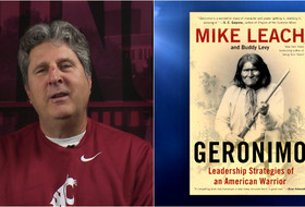 Video: WSU's Mike Leach on childhood library trips as his Geronimo book is released