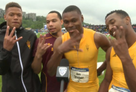 Arizona State's Lewis on winning men's 4x100 relay: 'I just turned the jets on'