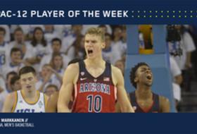 Pac-12 Men's Basketball Player of the Week for Jan. 23, 2017 Arizona's Lauri Markkanen