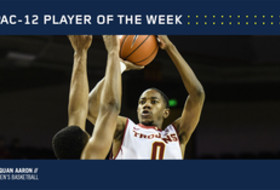 Pac-12 Men's Basketball Player of the Week Jan. 30, 2017 USC's Shaqquan Aaron